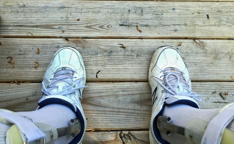 shoes-on-wood-deck-with-braces